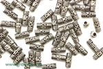 """Pewter"" Beads / 8MM Tube,Antique Silver"