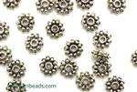 """Pewter"" Beads / 8MM Double Daisy Spacer,Antique Silver"