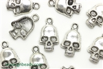 """Pewter"" Charm / 18MM Skull,Antique Silver"
