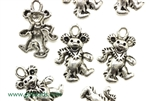 """Pewter"" Charm / 21MM Dancing Bear,Antique Silver"