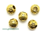 """Pewter"" Beads / 10MM Round,Antique Gold"