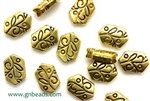 """Pewter"" Beads / 11MM,Antique Gold"