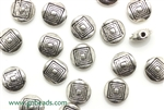 """Pewter"" Beads / 8.5MM Coin,Antique Silver"
