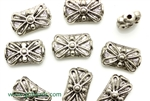 """Pewter Beads"" / 15MM Rectangle,Antique Silver"