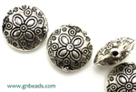"""Pewter"" Beads / 19MM Large Lentil,Antique Silver"