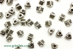 """Pewter"" Beads / 4.5MM Triangle,Antique Silver"