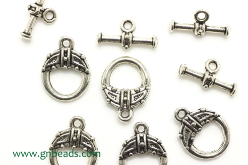 """Pewter"" Clasp / 15MM Toggle,Antique Silver"