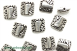 Pewter Beads / 10MM Square,Silver