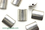"""Pewter"" Beads / 15MM Flat Rectangle,Antique Silver"