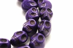 "Gemstone Bead, ""Turquoise"", Magnesite, Skull, Purple, 18MM"