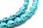 "BBead, Gemstone, ""Turquoise"", Magnesite, Skull, Light Blue, 13MM"