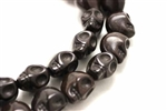 "Bead, Gemstone, ""Turquoise"" Magnesite, Skull, Brown, 15MM"
