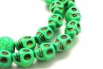 "Gemstone Bead, ""Turquoise"", Magnesite, Skull, Light Green, 15MM"
