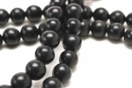 "Gemstone Bead, ""Turquoise"", Magnesite, Round, Black, 12MM"