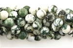 Gemstone Bead, Light Tree Agate, Round, 8MM