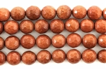 Gemstone Bead, Brown Goldstone, Faceted, Round, 10MM