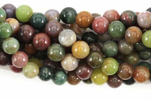 Bead, Gemstone, Fancy Jasper, India Agate, Round, 8MM