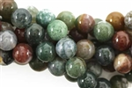 Bead, Gemstone, Fancy Jasper, India Agate, Round, 10MM