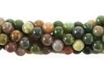 Bead, Gemstone, Fancy Jasper, India Agate, Round, 6MM