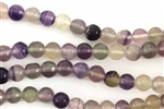 Gemstone Bead, Purple Fluorite, Round, 8MM