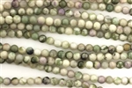 Gemstone Bead, Peace Stone, Round, 4MM