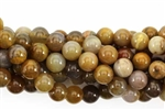 Gemstone Bead, River Agate, Round, 8MM