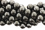 Bead, Gemstone, Hematite, Round, Magnetic, 10MM