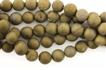 Gemstone Bead, Titanium Quartz, Round, 8MM