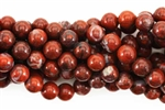 Gemstone Bead, Poppy Jasper, Round, 8MM