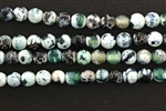 Gemstone Bead, Fire Agate, Green, Faceted, Round, 6MM