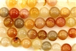 Gemstone Bead, Carnelian, Round, 8MM