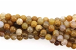 Gemstone Bead, River Agate, Round, 6MM