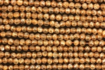 Gemstone Bead, Sunstone, Faceted, Round, 4MM