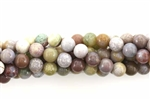 Bead, Gemstone, Light, Fancy Jasper, India Agate, Round, 6MM
