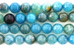 "Gemstone Bead, ""Jade"", Round, Faceted, Blue Melon, 10MM"