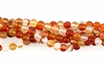 Bead, Gemstone, Carnelian, Round, 4MM