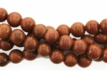 Gemstone Bead, Brown Goldstone, Round, 10MM