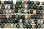 Bead, Gemstone, Fancy Jasper, India Agate, Faceted Rondelle, 7MM