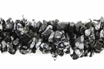 Gemstone Bead, Snowflake Obsidian, 10MM, Chips