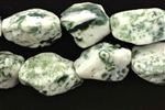 Gemstone Bead, Light Tree Agate, Nugget, 24MM