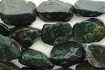 Gemstone Bead, Bloodstone, Long Nugget, 22MM