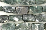 Bead, Gemstone, Moss Agate, Matte Finish, Rough Cut Rectangle, 19MM