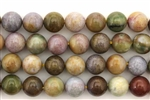 Bead, Gemstone, Light, Fancy Jasper, India Agate, Round, 8MM