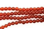 Gemstone Bead, Red Agate, Round, 6MM