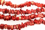 Gemstone Bead, Coral, 8MM, Chips