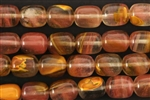 "Gemstone Bead, Fire ""Quartz"", Barrel, 12MM"