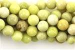 "Gemstone Bead, Lemon ""Jade"", Round, 8MM"