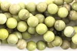 Gemstone Bead, Light Lemon Jasper, Round, 8MM