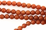 Gemstone Bead, Red Aventurine, Round, 8MM