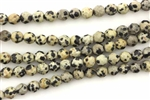 Dalmation Jasper / 6MM Round Faceted